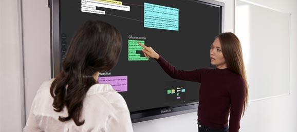Utilisation d'un écran interactif tactile
