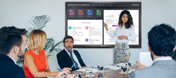 Travaillez en équipe sur un écran interactif tactile